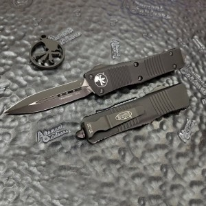 MICROTECH TROODON. Обзор фронтального ножа с обоюдоострым клинком